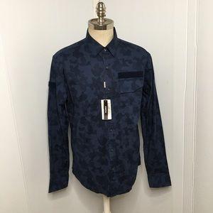 Michael Kors Blue Camo Shirt